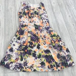 Anthropologie Maeve Neon Watercolor Floral Dress 4
